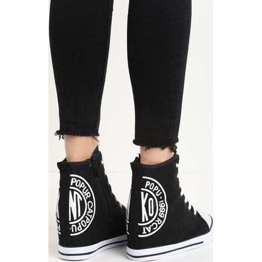 ac43dfa2 Czarne Sneakresy Black Sneakers Ruby born2be-pl na obcasie. Zobacz: Born2be