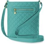 e870289761b85 Pikowana listonoszka klasyczna torebka damska na ramię – turkusowy -  zdjęcie produktu
