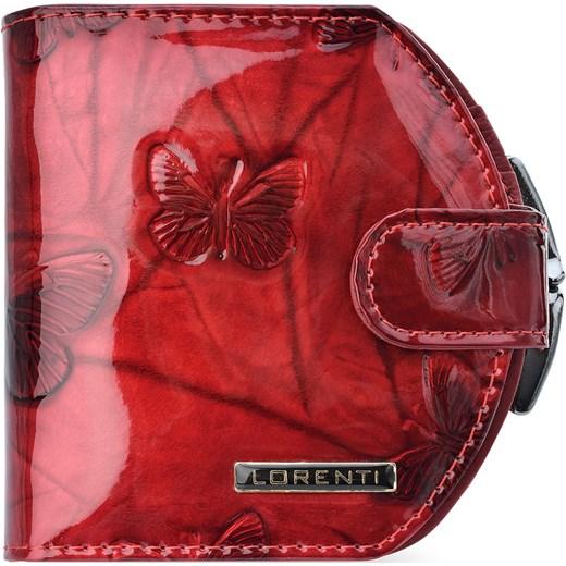 39f89f17df6b7 Lakierowany portfel damski lorenti podkówka bigiel motylki – czerwony  Lorenti world-style.pl ...