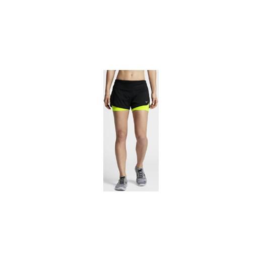 miło tanio Los Angeles atrakcyjna cena Damskie spodenki do biegania 2 w 1 Nike Rival 7,5 cm - Czerń bezowy