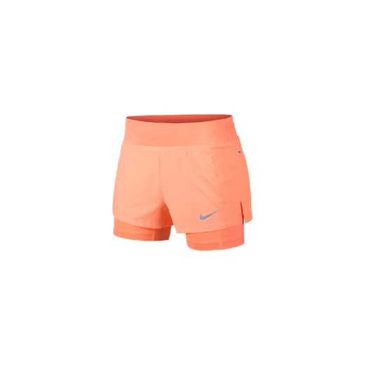 sekcja specjalna wylot oficjalne zdjęcia Damskie spodenki do biegania 2 w 1 Nike Eclipse - Czerwony pomaranczowy