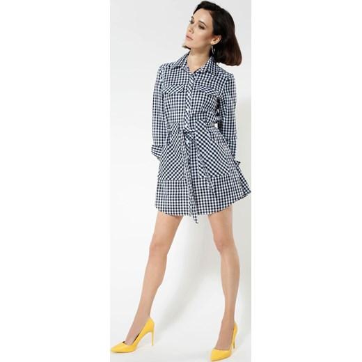 bcbf083870 Czarna Sukienka Approach niebieski Renee odzież w Domodi