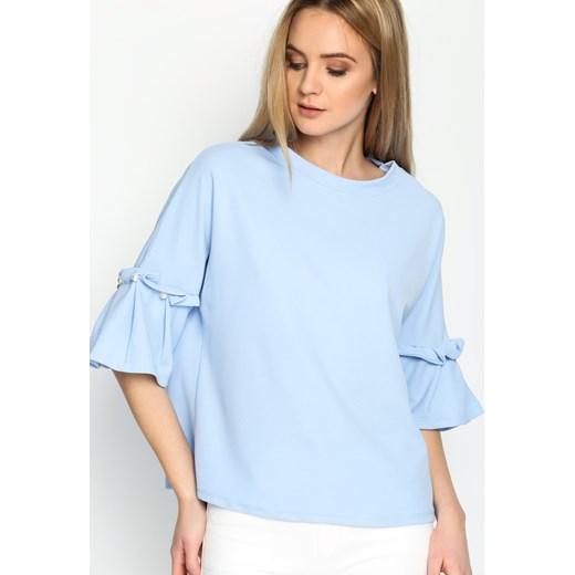 640a9cebaa Niebieska Bluzka Romantic Way niebieski Renee uniwersalny Renee odzież ...