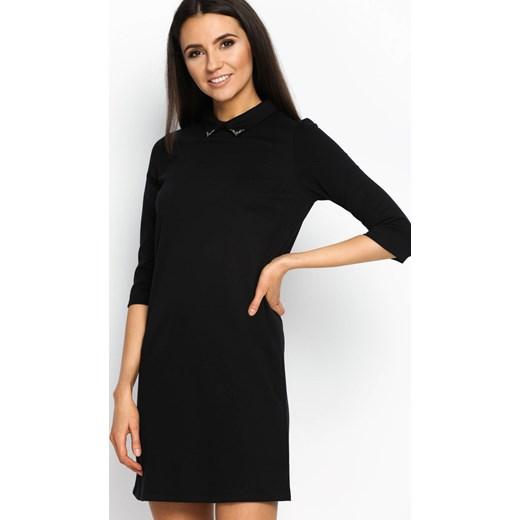 176cb1936d Czarna Sukienka Script Girl czarny Renee odzież w Domodi