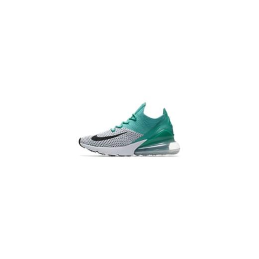 online retailer 135ec 36943 Buty damskie Nike Air Max 270 Flyknit - Zieleń niebieski Nike 4