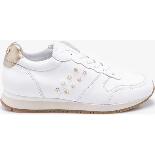 2dc0201042020 Buty sportowe damskie Tommy Hilfiger wiązane młodzieżowe z aplikacjami ...