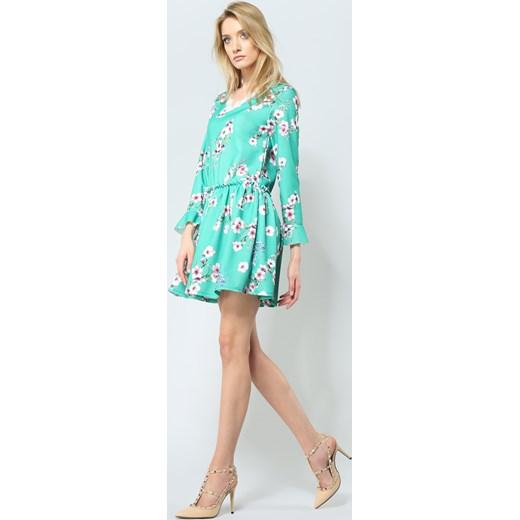 d36173561e Zielona Sukienka Sweety Flower Renee uniwersalny Renee odzież ...