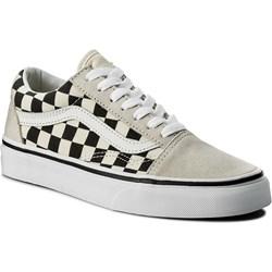 vans checkerboard beżowe
