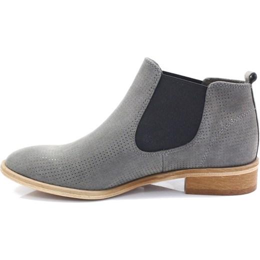 11f13ee970fcc CHILLI SHOES 1398 SZARY - Klasyczne sztyblety Tymoteo.pl sklep obuwniczy w  Domodi