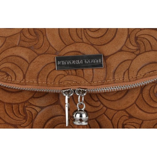 90980f449c01d ... Modna Torebka Listonoszka Skórzana Vittoria Gotti Made in Italy Ruda  brazowy Genuine Leather PaniTorbalska ...