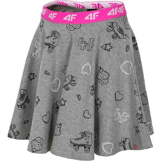 264dce39c0 Spódniczka dresowa dla dużych dziewcząt JSPUD202 - szary melanż szary 4f  Junior 4F