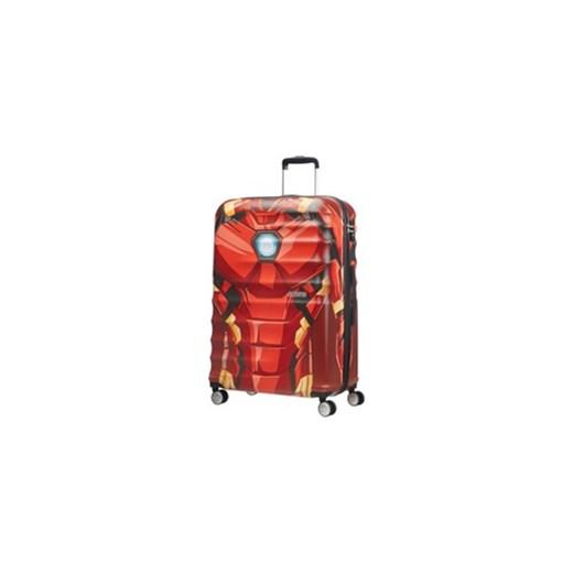 2f954a5d607402 Walizka American Tourister Wavebreaker Marvel duża 4koła 96l - Iron Man  Close-up American Tourister