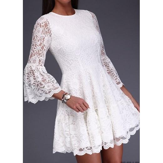 431205292746 ... sukienka made in italy    sukienka koronkowa w kremowej bieli M  LUXURYONLINE ...