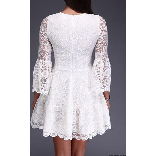 5d6df5368d39 ... sukienka made in italy    sukienka koronkowa w kremowej bieli S  LUXURYONLINE ...