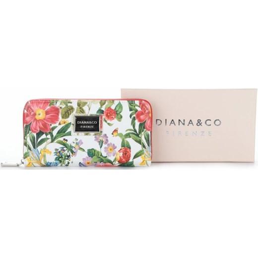 9275f15cb0506 ... Modny Portfel Damski Diana Co Firenze wzór Kwiatów Czerwony Diana Co  bezowy PaniTorbalska