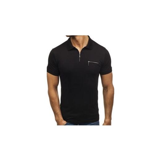 dd733c4bc Koszulka polo męska czarna Denley 181221 Denley.pl XL wyprzedaż Denley ...