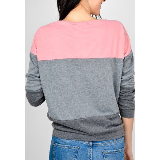 Trójkolorowa bluza oversize
