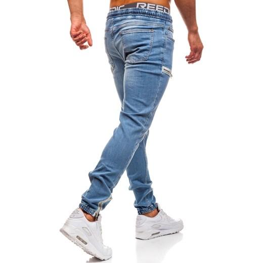 e596cf11c824ac ... Spodnie jeansowe joggery męskie niebieskie Denley 2024 Denley.pl 30  Denley promocyjna cena ...