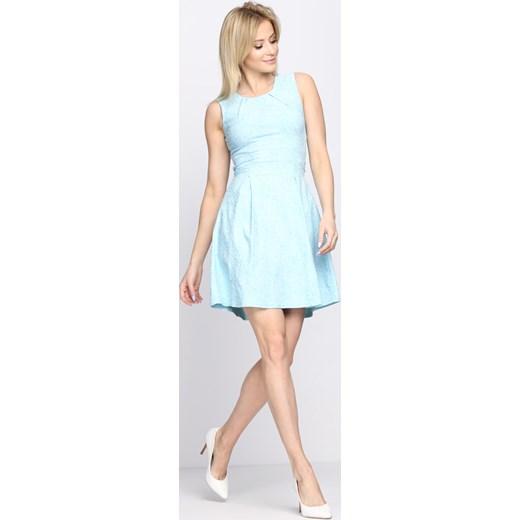 12070643668ae ... Niebieska Sukienka She Comes Born2be 44 okazyjna cena Born2be Odzież ...