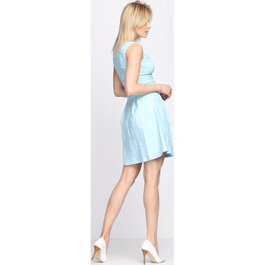 30da8b62007fa ... Niebieska Sukienka She Comes Born2be 40 okazyjna cena Born2be Odzież ...