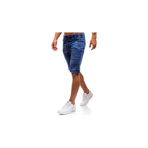 13e8dd536ad5d Krótkie spodenki jeansowe męskie granatowe Denley HY186 Denley.pl 2XL  okazyjna cena Denley ...