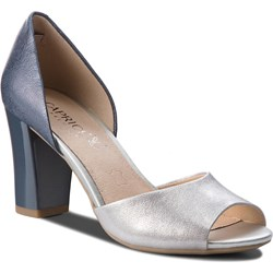 "Caprice ecru 2"" heel peep toe  shoes (6)"