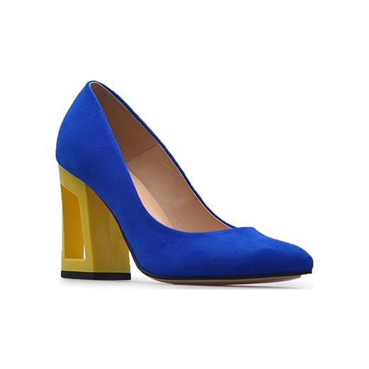 41d7b6fcdc883 Czółenka Damiss DS-29/8 Chabrowe zamsz niebieski Damiss Arturo-obuwie ...