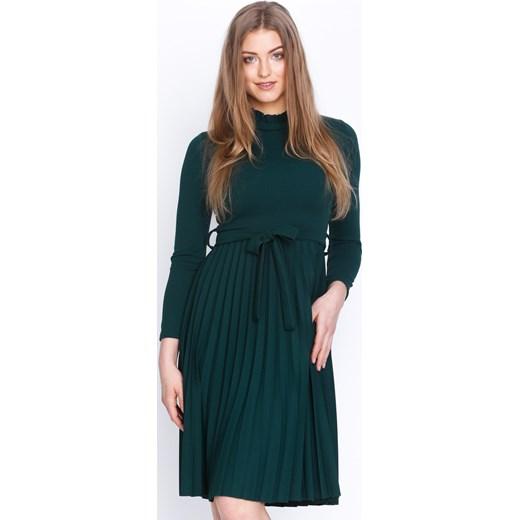 1f5e48e325 Zielona Sukienka For You Renee uniwersalny Renee odzież ...
