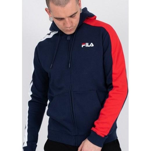 b10b1049d61f ... Bluza męska Fila Stan Cut And Sew Hoodie 684340 A47 - GRANATOWY S  sneakerstudio.pl