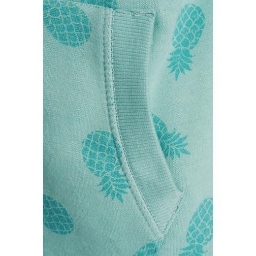 Bluza z kapturem damska w ananasy zielona Stitch&Soul