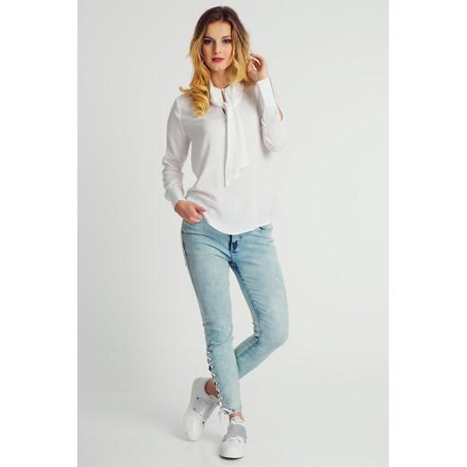 117c8c5d98 ... Bluzka damska wiązana pod szyją elegancka biała Fresh Made Fresh Made S  okazja cityruler2018 ...