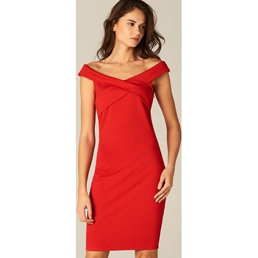 66ea89b770 Mohito - Sukienka ze zmysłowym dekoltem - Czerwony pomaranczowy Mohito S ...