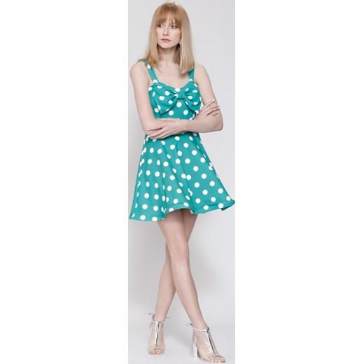15c7f14802 Zielona Sukienka Precious Love bezowy Renee uniwersalny Renee odzież ...
