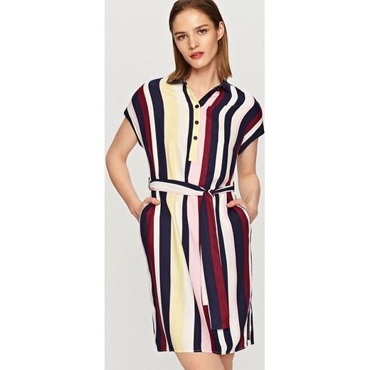 0d72ee1cd3 Reserved - Sukienka w paski - Wielobarwn Reserved bezowy 38