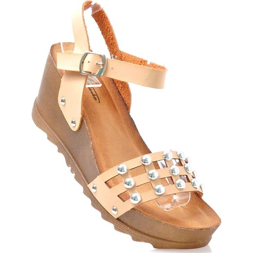f41f9981 Wygodne damskie sandały na platformie BEŻOWE /G7-3 1793 S3/ Mannika brazowy  37 ...