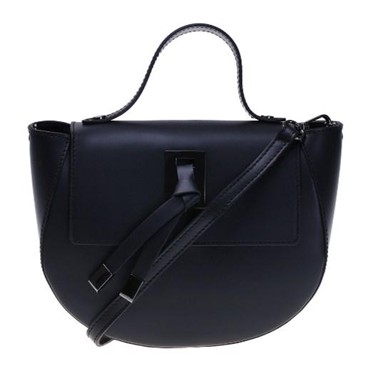 fb41fbd45cfb4 Włoska torebka listonoszka Celina czarna skóra naturalna Vera Pelle  okazyjna cena rinkopl ...