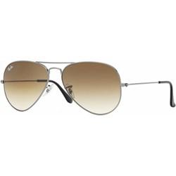 75f7264bdddc Złote okulary przeciwsłoneczne damskie aviatory ray-ban