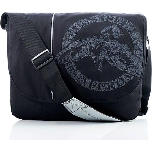 79d854727aacc Lekka torba męska listonoszka na laptopa czarna Bag Street Evangarda ...