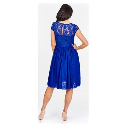 2e5d6fe226 ... sylwestra midi  Sukienka Efect na bal z tiulu z koronką z krótkimi  rękawami