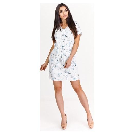 eab0e7b944 Pudełkowa sukienka z krótkim rękawem La Blanche ptakmoda.com w Domodi