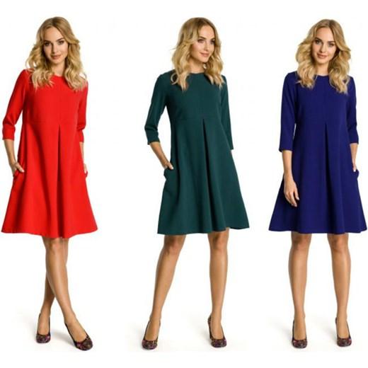 82f6f9743b Elegancka sukienka z kontrafałdą pod biustem -- Infinity zł  DaWanda ...