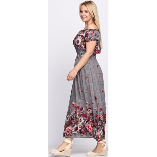 1bb2b7da41 ... Granatowo-Czerwona Sukienka Flower Garden Born2be XL XXL okazja Born2be  Odzież