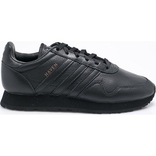 hot sale online 85060 051b4 ... 710a14cb7812 Czarne buty sportowe męskie Adidas Originals wiązane  skórzane w Domodi ...