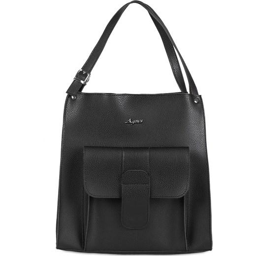 Pojemna duża torebka damska shopperka A4 Mb Classic Bag czarny MBclassic Bag