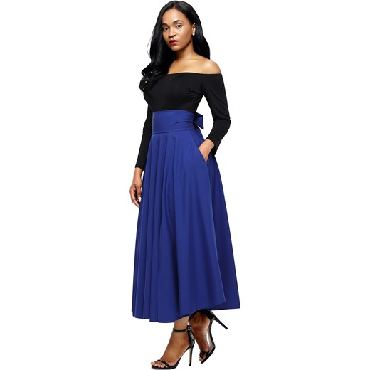 MAXI SKIRT ELISE blue  Elegrina XL