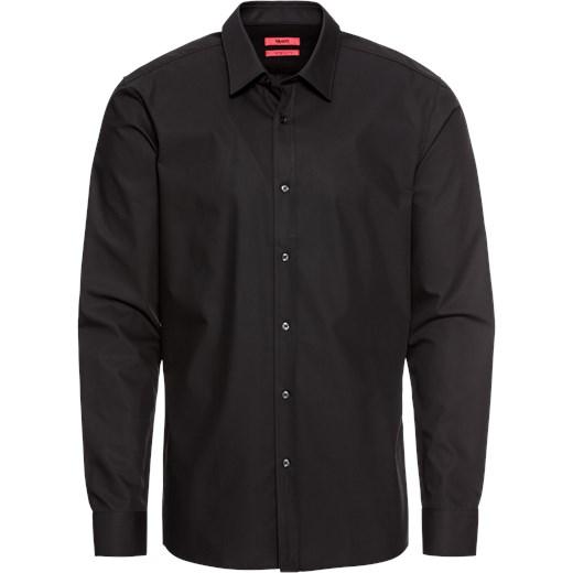 ba8869ce259a5 Brązowa koszula męska Hugo Boss z bawełny z długim rękawem z klasycznym  kołnierzykiem ...