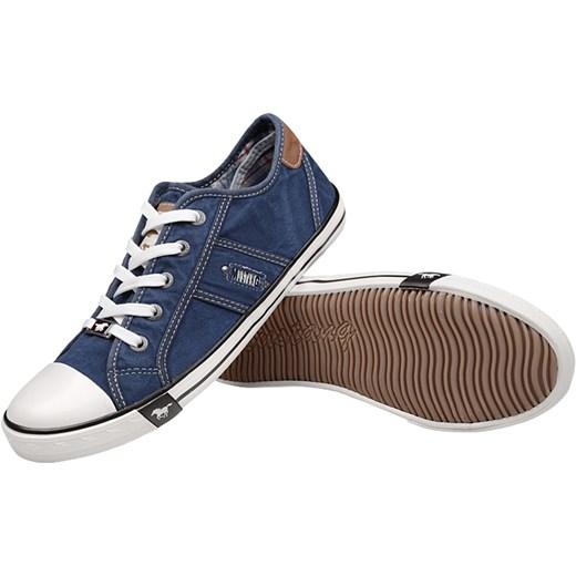 60b6f063a1640 Trampki MUSTANG 36C0036 Jeans 1099-302-841 Jeans Blau Mustang 40 promocja  NeptunObuwie.