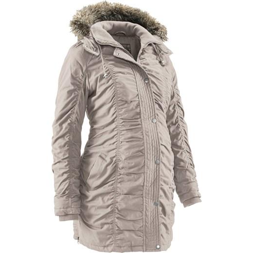 Zimowa kurtka ciążowa BPC Collection szary bonprix