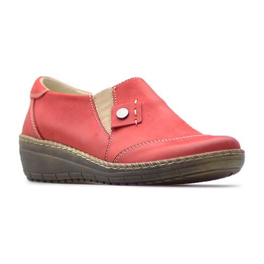 843db5056fa47 Półbuty Helios 319 Czerwone lico Helios Arturo-obuwie ...