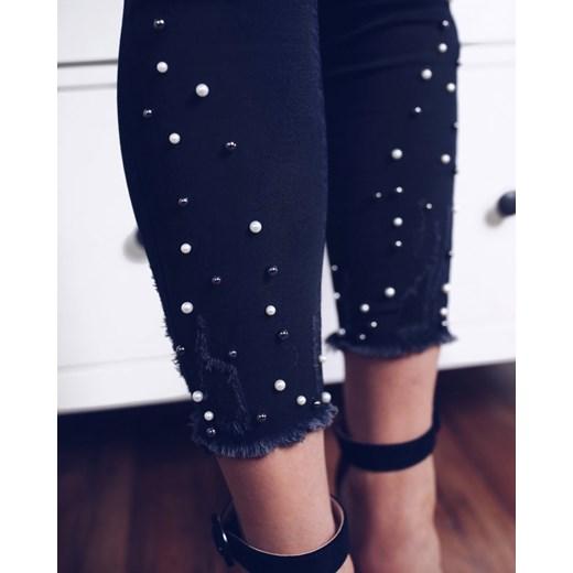 45ab7a623be4 Spodnie CHER z perłami przy nogawkach - czarne 38 wyprzedaż Marsala ...